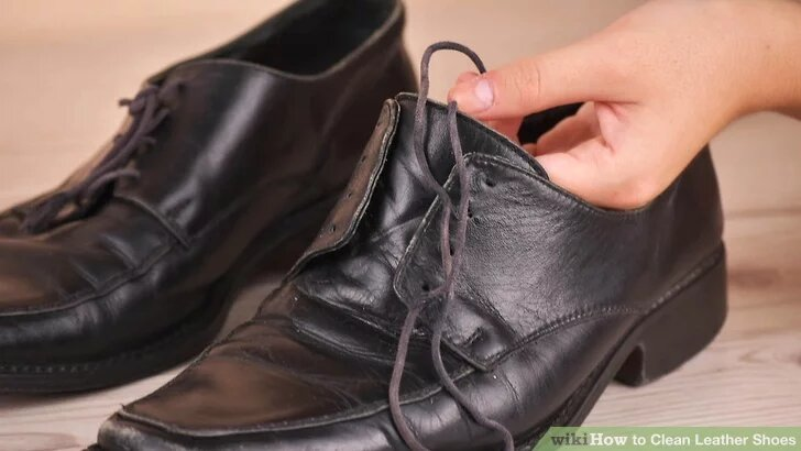 how to clean leather shoes for men