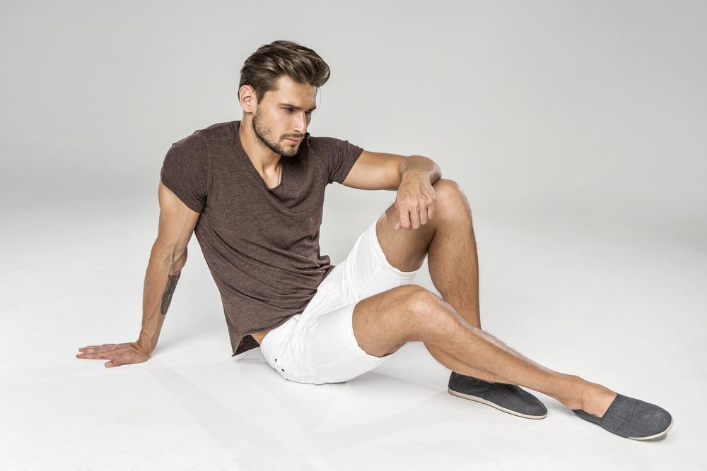 Male-Model-White-Shorts