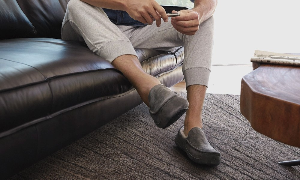 Man wearing loafer indoor