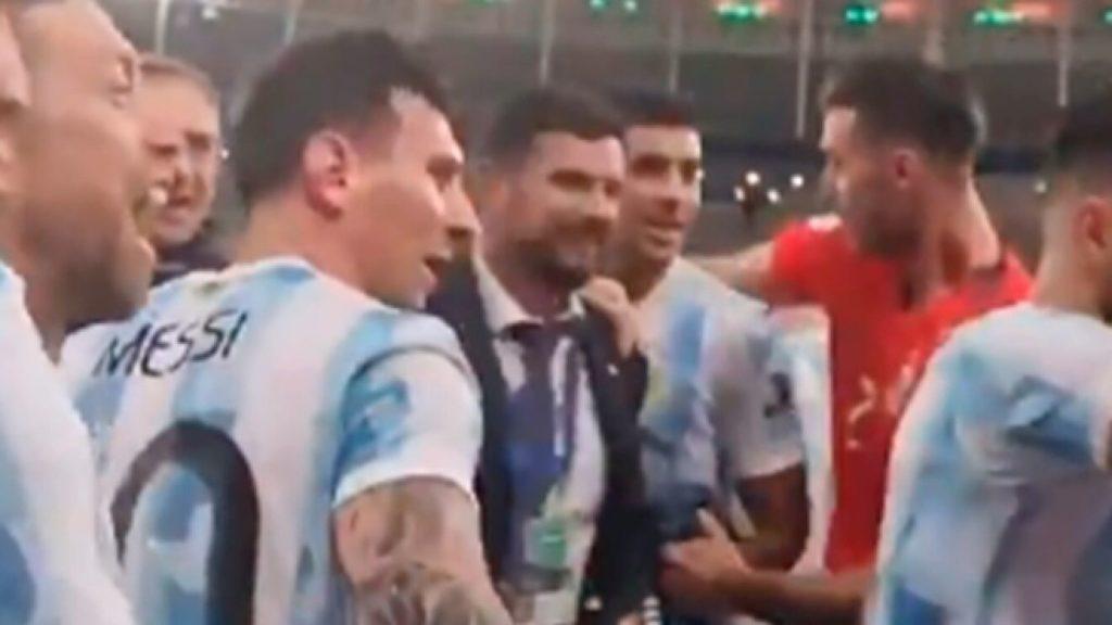 MESSI STOPS DE PAUL FROM MOCKING BRAZIL FOLLOWING COPA AMERICA WIN