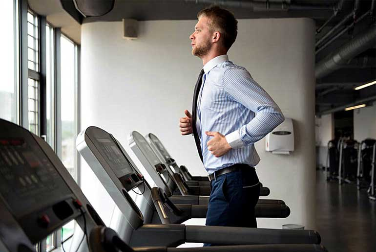 office man exercise