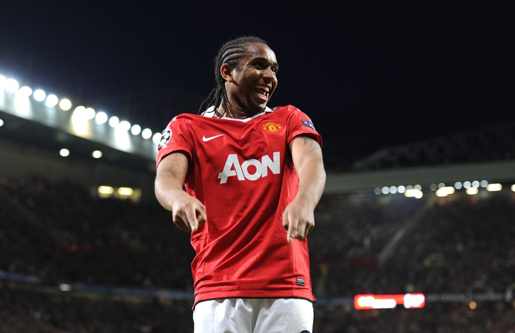 Manchester United's Oliveira Anderson celebrates scoring his second and side's fourth goal of the game
