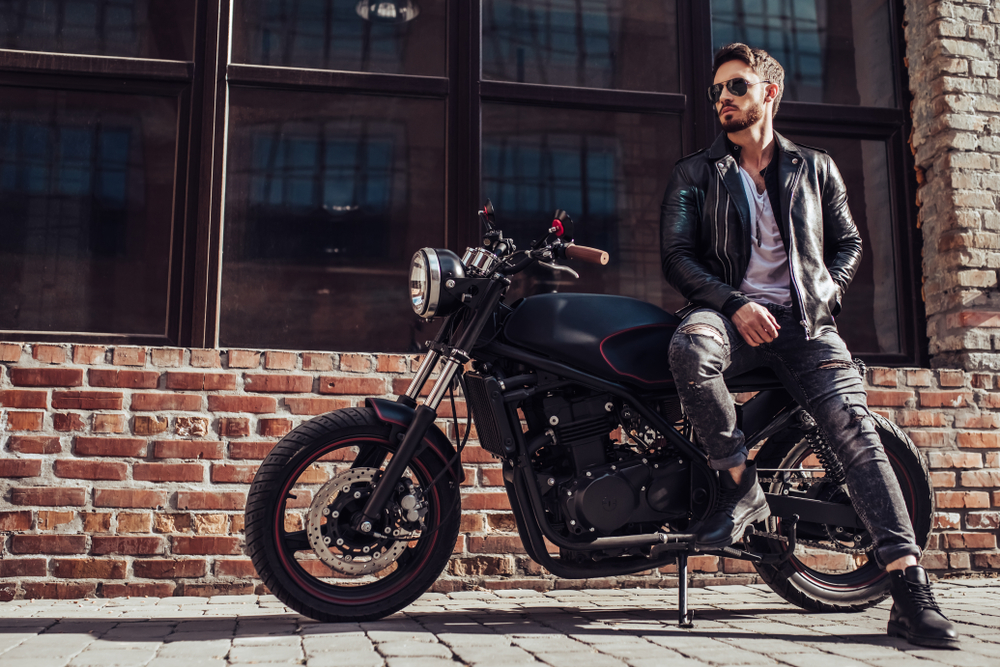 Handsome Bearded Biker With Classic Style